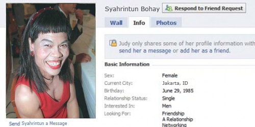 Facebook, Facebook Palsu, Foto Profil Facebook Palsu