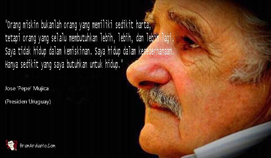 sederhana, hidup sederhana, Jose Mujica